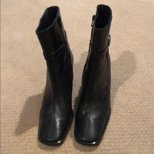 Coach high heel, leather boots like new